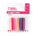 Mini canes Assortiment Coeurs x 10 pcs