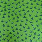 Papier Lokta Imprimé 50 x 75 cm Hirondelles vert