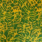 Papier Lokta Imprimé 50 x 75 cm Monstera jaune