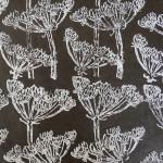 Papier Lokta Imprimé 50 x 75 cm Cigüe marron
