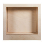 Cadre en bois 3D à monter Kit à personnaliser 24 x 24 x 6,9 cm