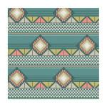 Coupon de tissu Wax imprimé Azteque multicolore2 - 150 x 160 cm