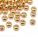 Perle rondelle intercalaire Heishi 3 x 2 mm Laiton doré