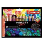 Crayons de couleur Woody Set Arty 10 couleurs + taille crayon