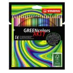 Crayons de couleur Greencolor Set Arty 24 couleurs