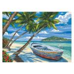 Peinture par numéros Barque Sous Les Cocotiers
