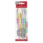 Pinceau soft touch Set pastel 4 tailles