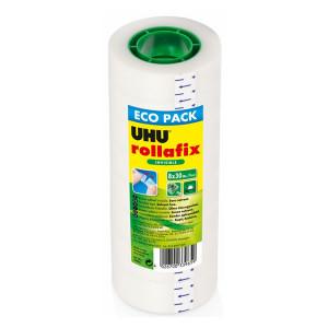 Bande adhésive Rollafix Invisible Pack de 8 rouleaux 30 m