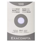 Fiche Bristol blanc Q 5x5 100 feuilles - 12,5 x 20 cm