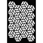 Pochoir Fond cubes - 10 x 15 cm