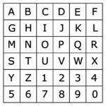 Tampon bois Alphabet majuscule 0.7 x 0.9 cm